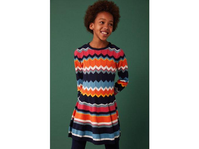 Pletené dívčí šaty barevné Boboli purhované šaty holka model 4310972440