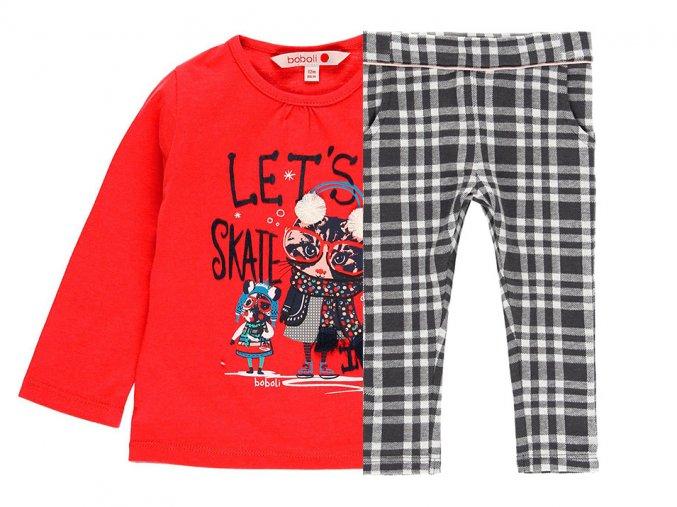 Dívčí set tričko a kalhoty kočka na ledě