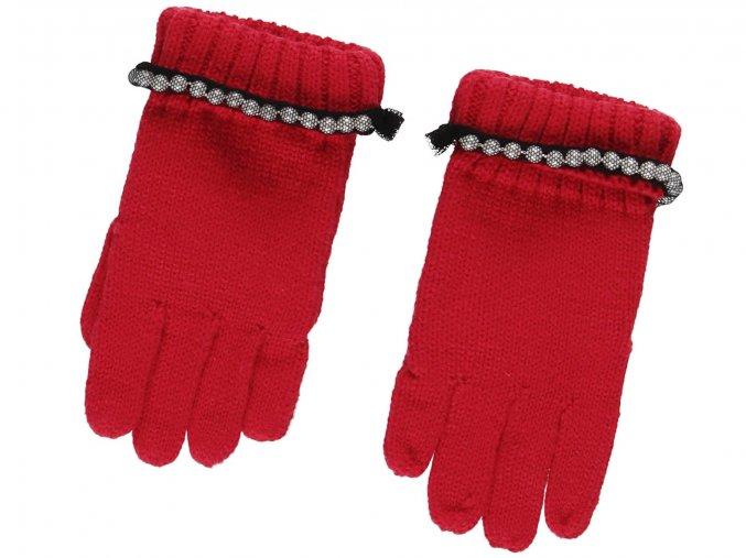 Dívčí pletené rukavice Moi