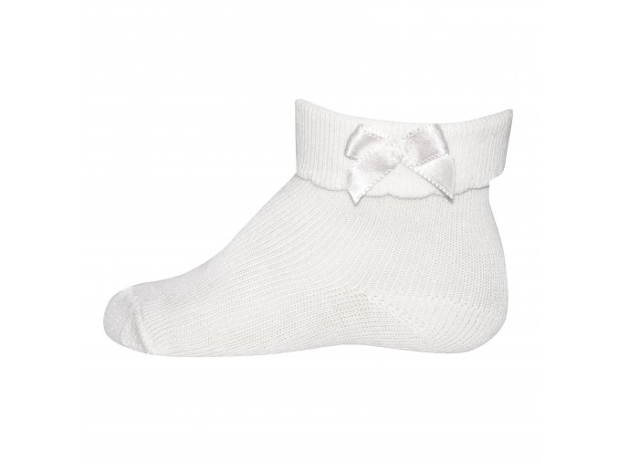 kojenecké dívčí ponožky s mašličkou bílé Ewers