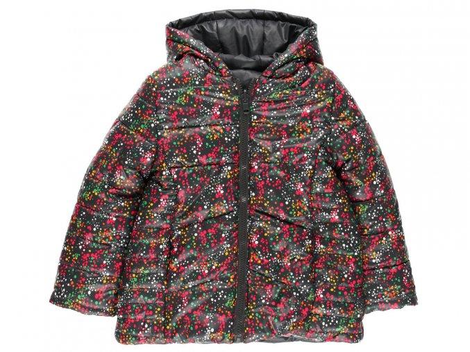 Dívčí zimní bunda Barevné puntíky
