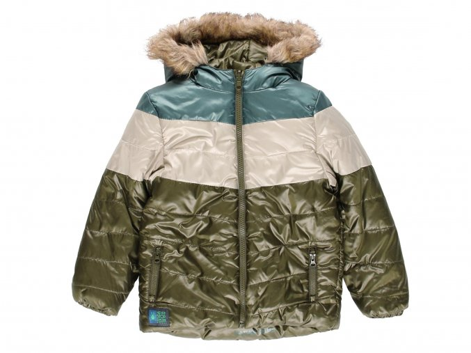 Chlapecká zimní bunda QR Brouk khaki