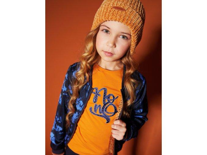 Holčičí lehká bunda na zip oboustranná modrá zlatá Holand NONO model N008-5305