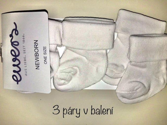 2201 ponozky s bambulkou pro novorozene
