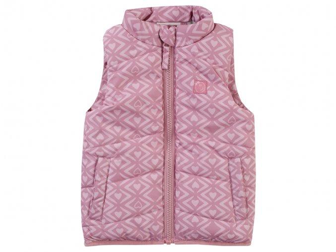 Jacky dívčí vesta růžová srdíčka 3620610 0 5900