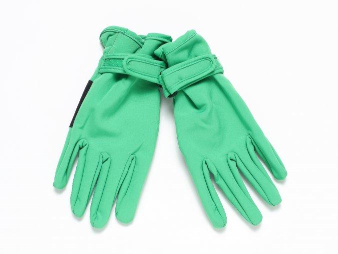 Dětské softshellové prstové rukavice zelené K 10406