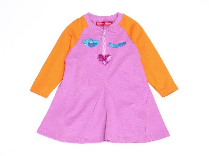 Dívčí šaty růžové Madrid modroočko K 12977