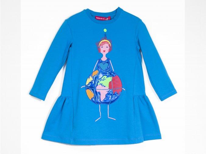 Dívčí šaty kodré Buenos Aires zeměkoule7VE3380