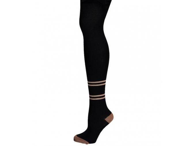 Dívčí punčocháče černé s Lurex proužkem skořice třpytivé holka NONO N009 5901 014 1