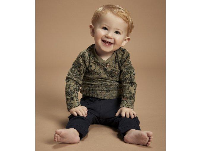 kluk khaki kojenecký overal se zvířátky sovičky model Minymo 191219 7257
