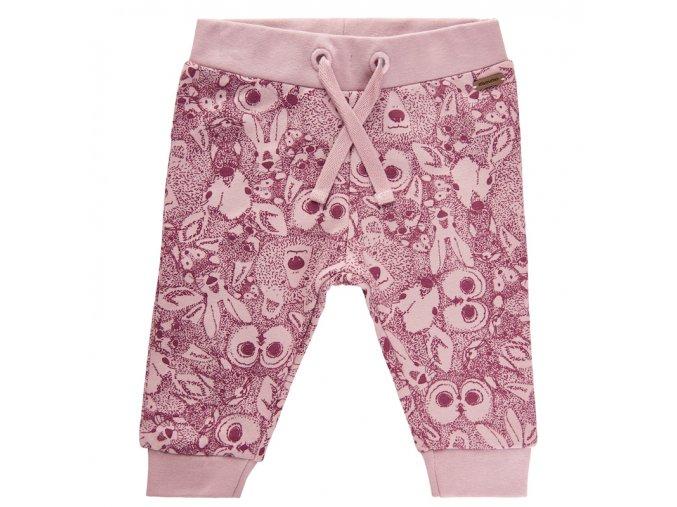 kojenecké tepláčky holčička růžové zvířátka sovička Minymo 111385 4200