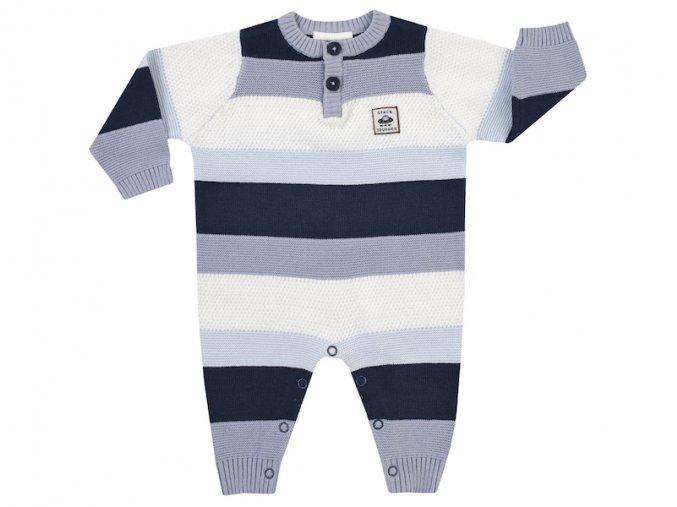 3220430 0 9100 kojenecký overal kluk pruhy pletený modrý vesmír modrý overal pro chlapečka dárek