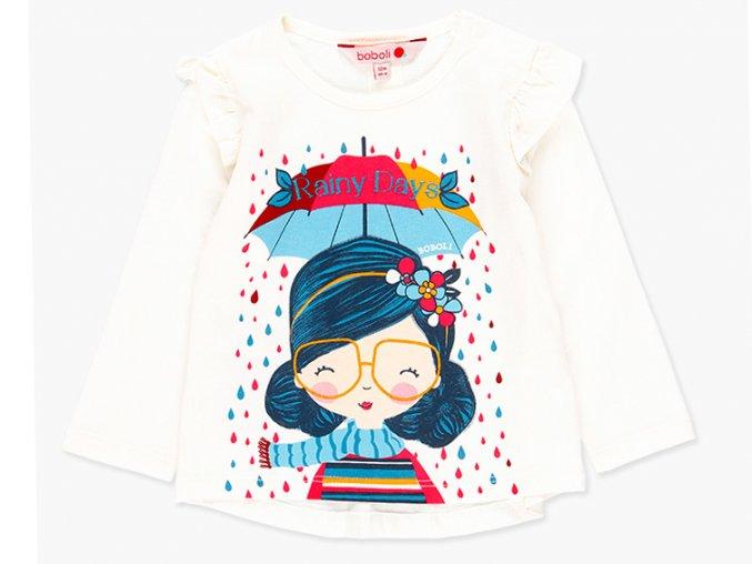 <p>Bavlněné dětské tričko s dlouhým rukávem s volánky a nabíranou zadní částí, celkově přípomínající andílka. Vhodné k sukni či kalhotám pro celodenní nošení</p>