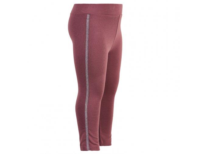 dívčí strečové kalhoty borůvka růžové tepláky třpytky lampasy Minymo 121374 4418 2