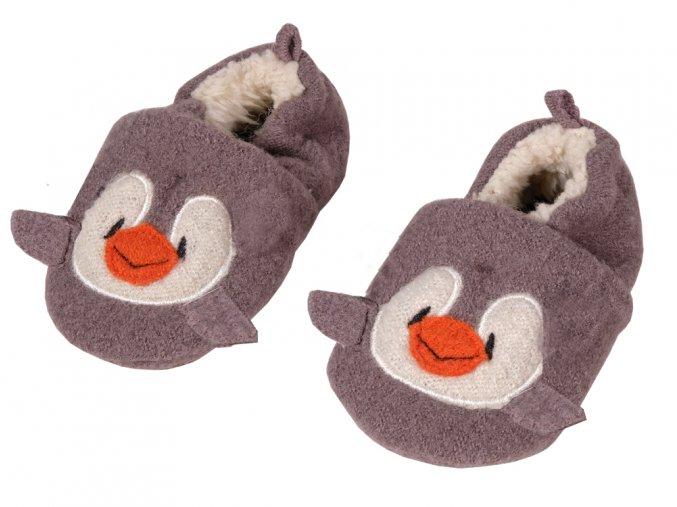 Kojenecké vlněné botičky Tučňák s ABSkem95203 911000