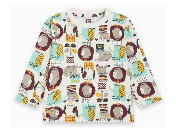 Dětské tričko Zvířátka bílé11290283