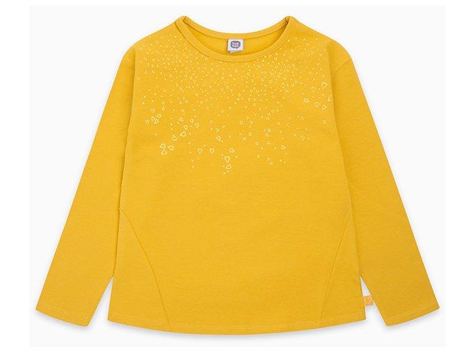 Dívčí tričko Třpytivá srdce zlaté11290723