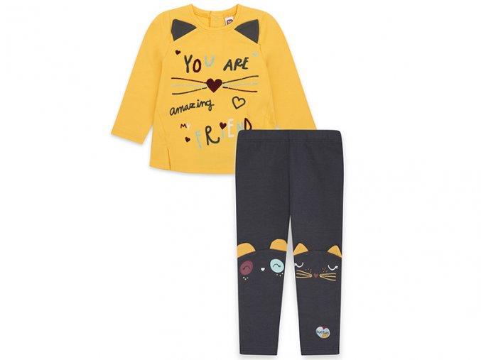 Dívčí souprava tričko a legíny Kočička11290309 1