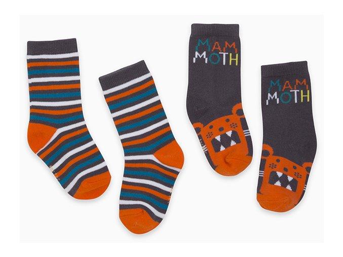 Chlapecké ponožky barevné Grrr Tygr oranžové hnědé tmavé 11290362