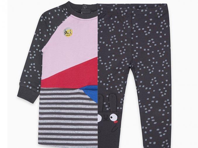 Dívčí souprava mikinové šaty a legíny TucTuc