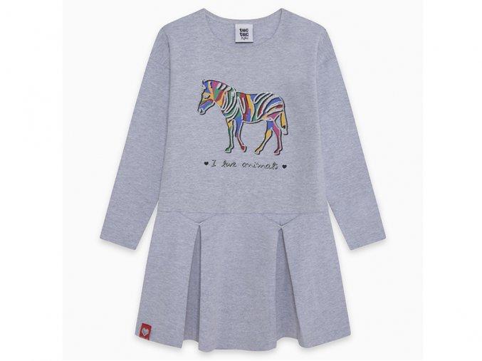 Dívčí šaty Zebra se třpytkami11290461