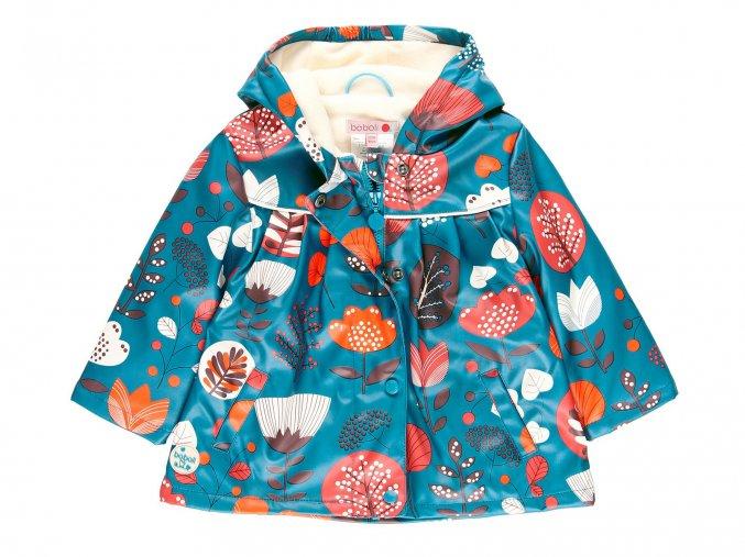 Holčičí pláštěnka Květy modrá zateplená2211849423 a