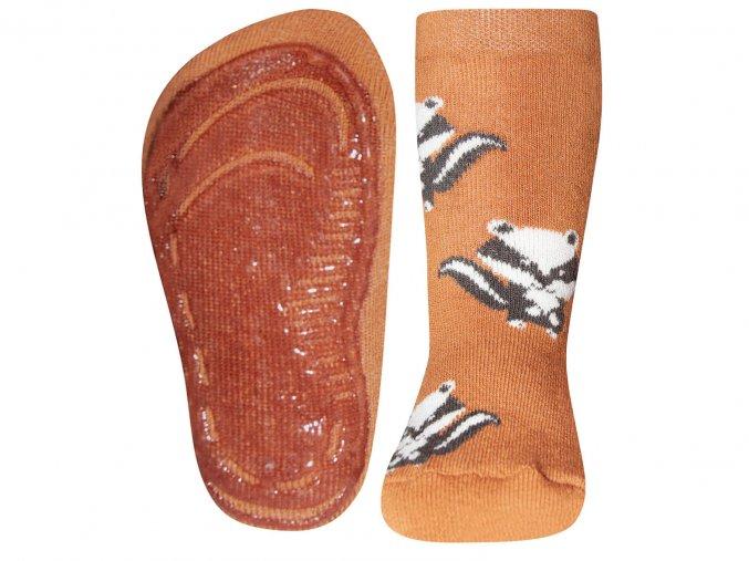 Ponožky s protiskluzem Mýval skořice221145 1319 B2C