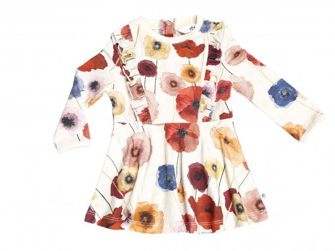 Barevné šaty pro holčičku s květy organic skandinávie vlčí máky květiny 101827 0606 f