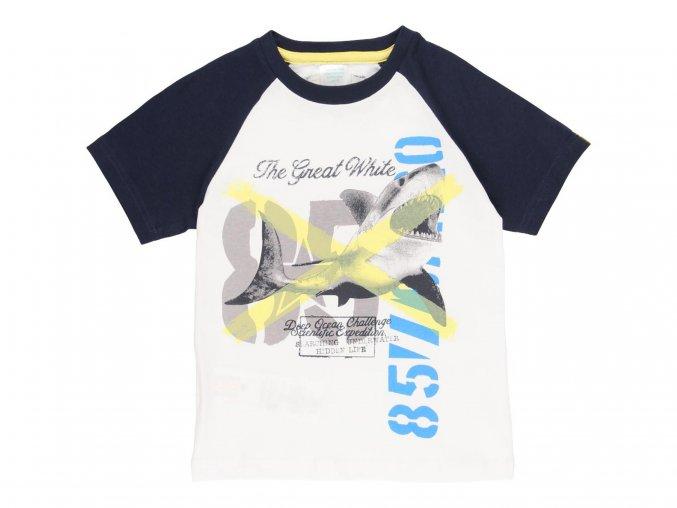 Klučičí tričko modrobílé Žralok5020631100 a