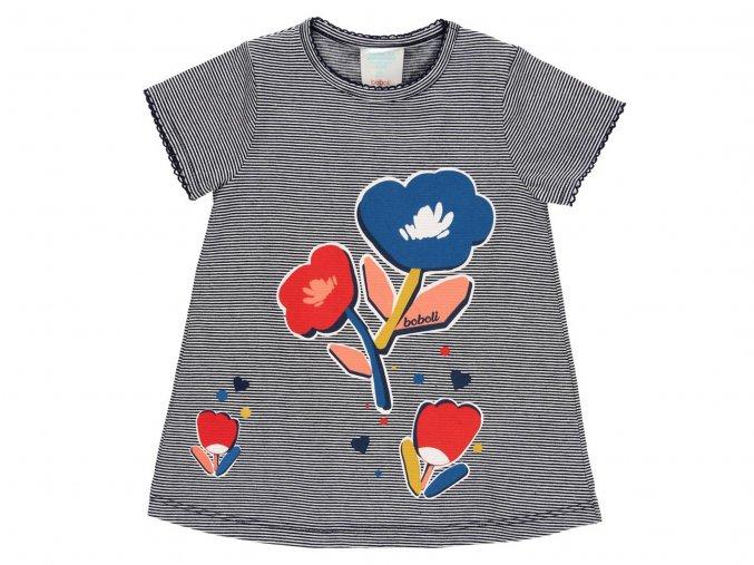 holčičí šatičky s kalhotkama vlčí mák barevné s krátkým rukávem Boboli 2321089547 a