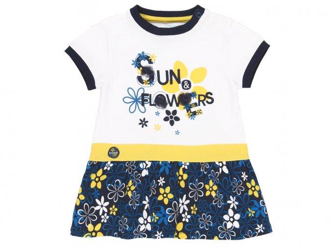 Holčičí modrobílé šaty s květy2020371100 1