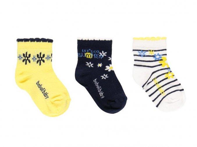 Holčičí ponožky barevné s květy2920251145 a