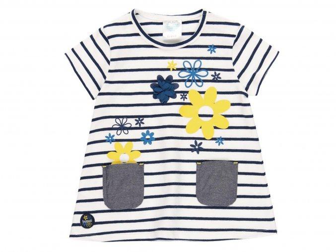 Holčičí šatičky modrobílé s květy2020489551 1