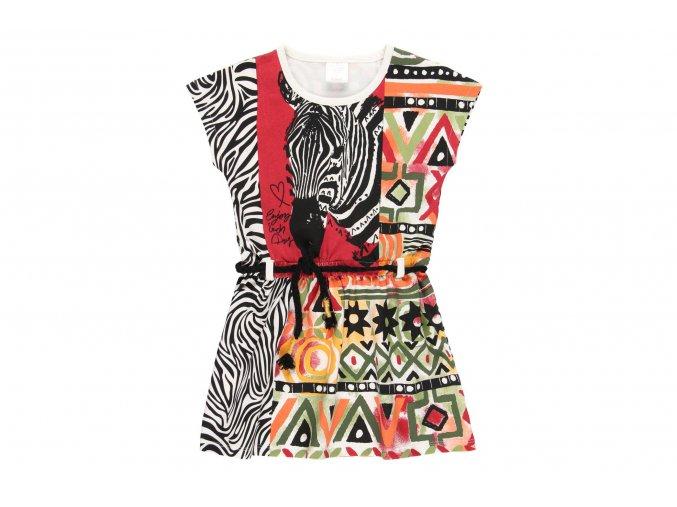Dívčí letní šaty Afrika barevné šaty holka Boboli 4621031111 a