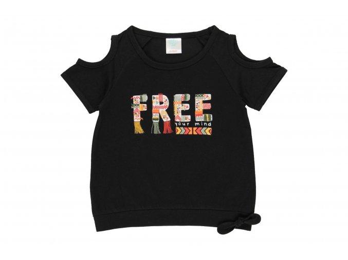 Dívčí tričko černé free Afrika otevrená ramena černý top holka462002890 a