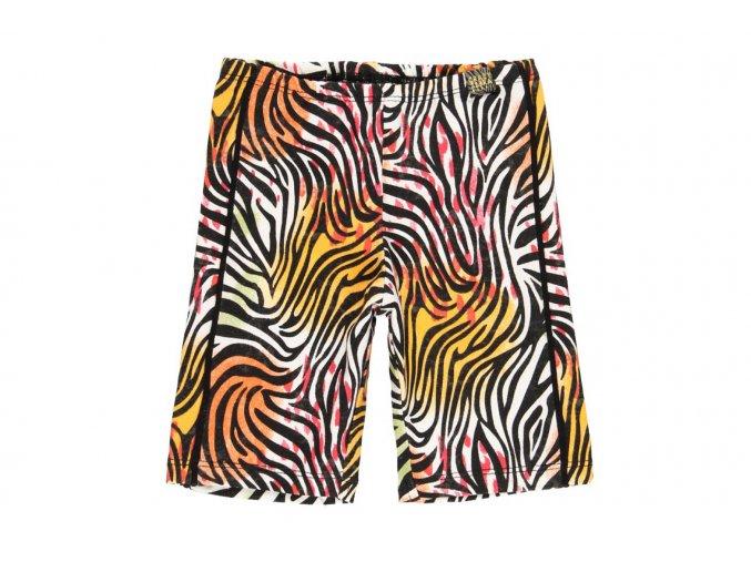 Dívčí legíny krátké Zebra strečové šortky barevné holka Boboli 4621479555 a