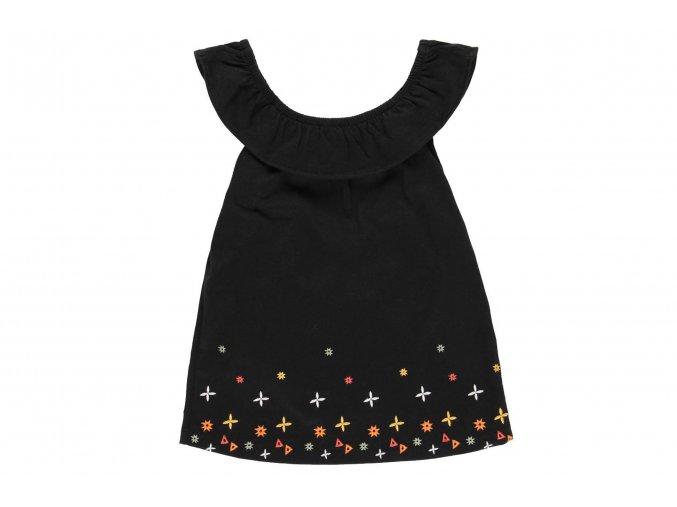 Dívčí top černý s volánky tílko letní tričkoholka Boboli 462136890 a