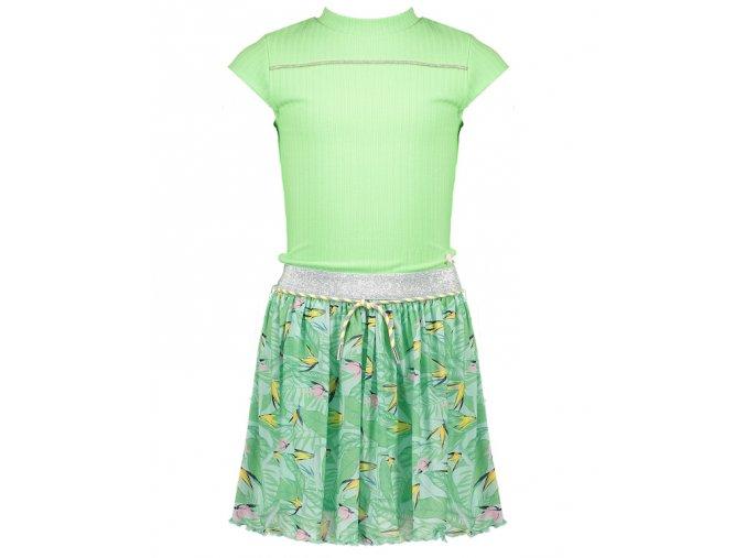 Dívčí šaty zelené třpytky kombinované NONO Holand holka N103 5800 317