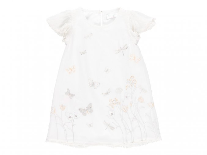 Dívčí letní šaty bílé s motýly7220451111 a