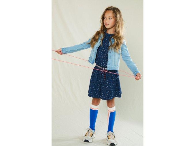 Dívčí tmavě modré šaty a džínska holka Holand BNOSY N102 5904 125 2 copy