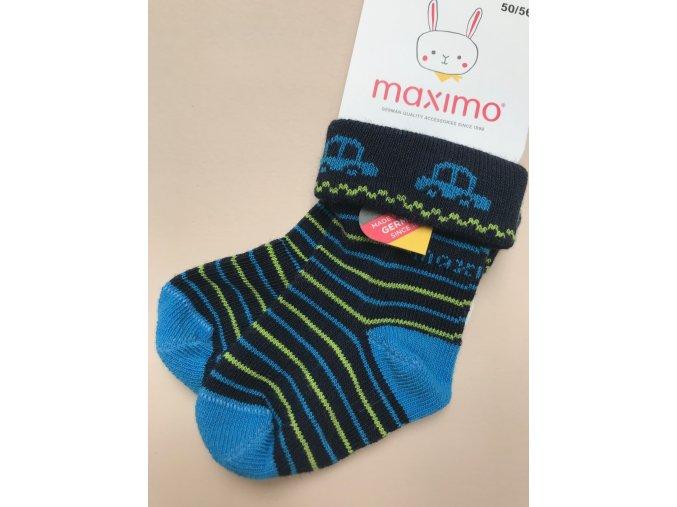 Dětské ponožky mimi tmavě modré s autíčkem 052363276 48