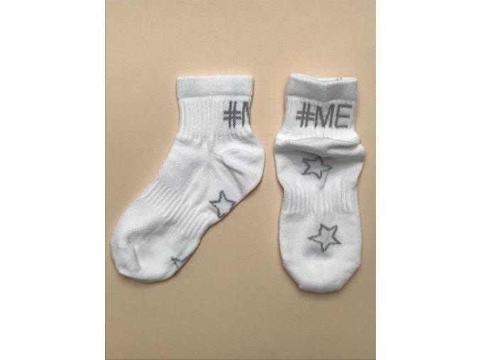 Dětské ponožky bílé sport kotník unisex 93236309 01 b