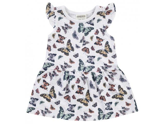 Kojenecké šatičky pro holčičku letní bílé barevné šaty s motýlky stříškový rukáv Jacky 3911580 0 7800 copy