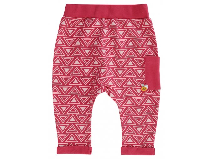 Kojenecké tepláčky kalhoty holčička červené růžové malina Jacky 3711080 99 2878 copy