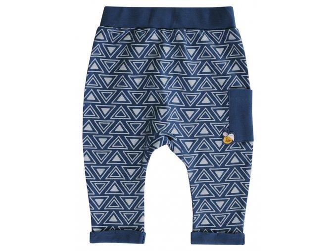 Kojenecké tepláčky kalhoty holčička tmavě modré Jacky trojúhelníčky 3711080 0 3578 copy