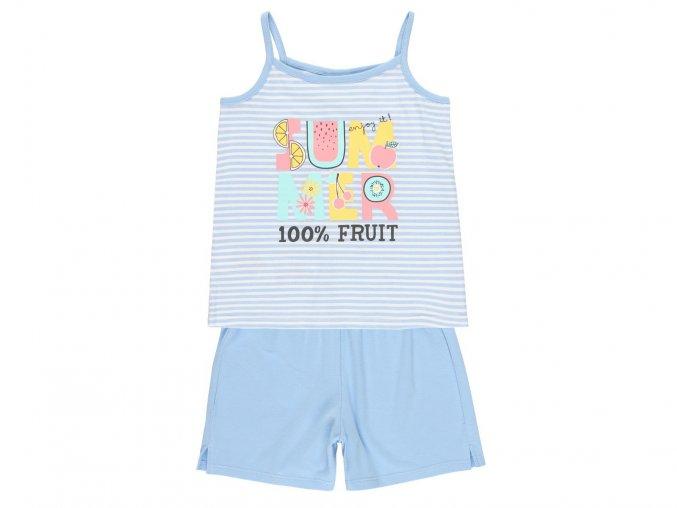 Dívčí letní pyžamo s tílkem modré9220819501 a