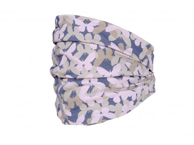 Dětský multifunkční šátek růžový motýl holka tunel čepice maska kukla tenká čepice UV filter 50 růžový motýl holka Maximo13600 055600 13
