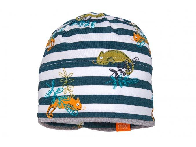 Dětská čepice pruhovaný Chameleon Organic13500 081700 66