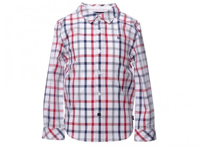Chlapecká kostkovaná košile pro kluka trikolora moderní nabíraná záda Boboli K 11052