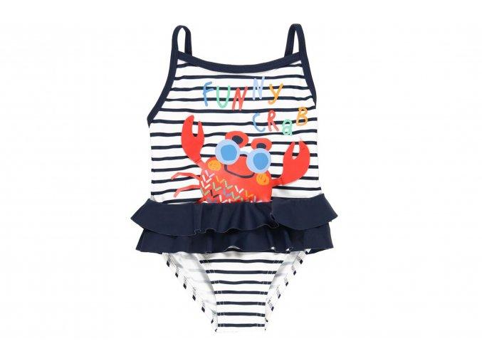 Dívčí pruhované plavky v celku s taštičkou8020229563 a